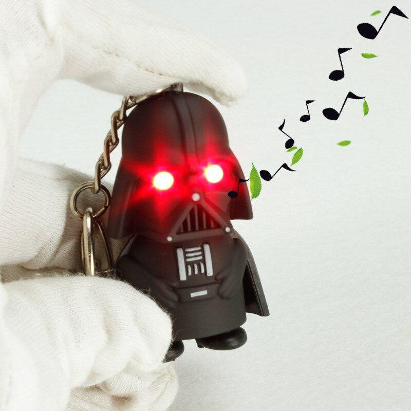 LED Darth Vader Star Wars Luminous Action Figure Light Cool Gifts Yoda Anakin Skywalker Figure Flashlight Keychains