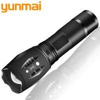 XM-L2 6000LM Aluminium Waterdichte Zoomable CREE LED Zaklamp Zaklamp tactische licht voor 18650 Oplaadbare Batterij of AAA