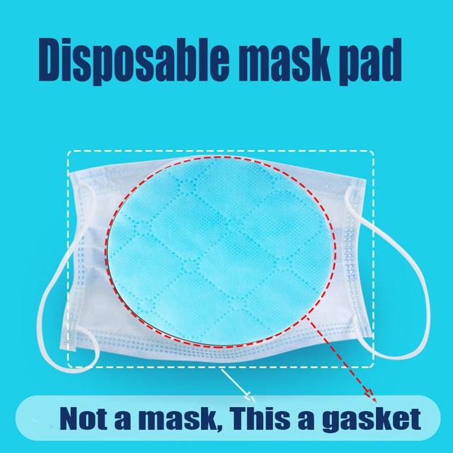 50 pièces/sac trois couches masque Non tissé cale de protection filtre à Air