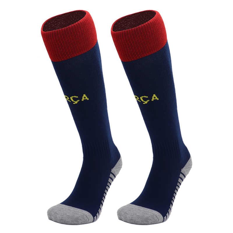 Качественные профессиональные спортивные футбольные носки для мужчин и женщин, футбольные Клубные гольфы, дышащие длинные гольфы, носки для мальчиков