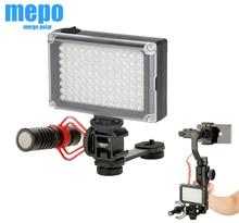 Dslr câmera sapata quente triplo montagem led barra de extensão do microfone luz para zhiyun suave gopro 9 8 7 dji osmo bolso 2 1 cardan