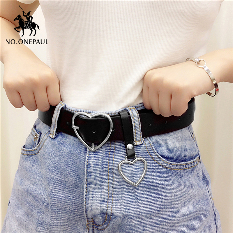 NO.ONEPAUL Belt Fashion Women Female Belt Genuine Belt Pin Buckles Fancy Vintage For Jeans Leather Belts For Women Female