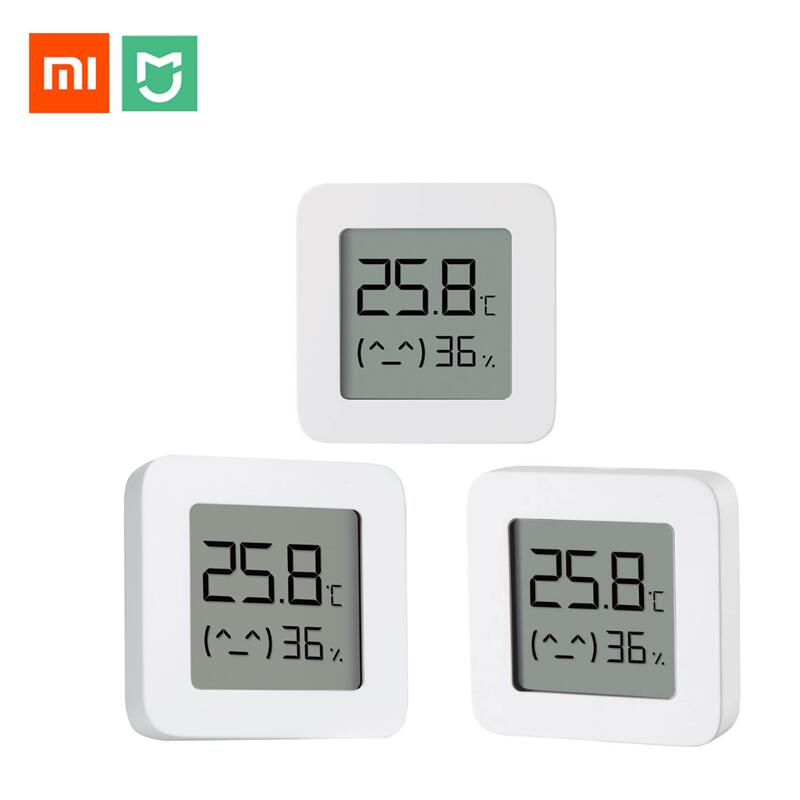 Xiaomi Mijia Smart Thermometer 2 Bluetooth Temperatur Feuchtigkeit Sensor LCD Digital Hygrometer Feuchtigkeit Meter arbeit mit Mijia APP