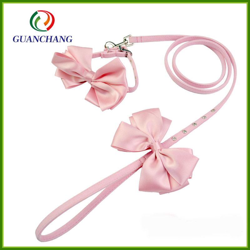 Dongguan Chang Travel Home Products Limited Dog Traction Rope Neck Ring Pet Bow Neck Ring