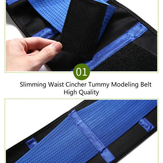 Women Adjustable Waist Trainer Body Shapers Elastic Waist Support Belt Slimming Corset Waist Belt Sports Lumbar Back Sweat Belt 4
