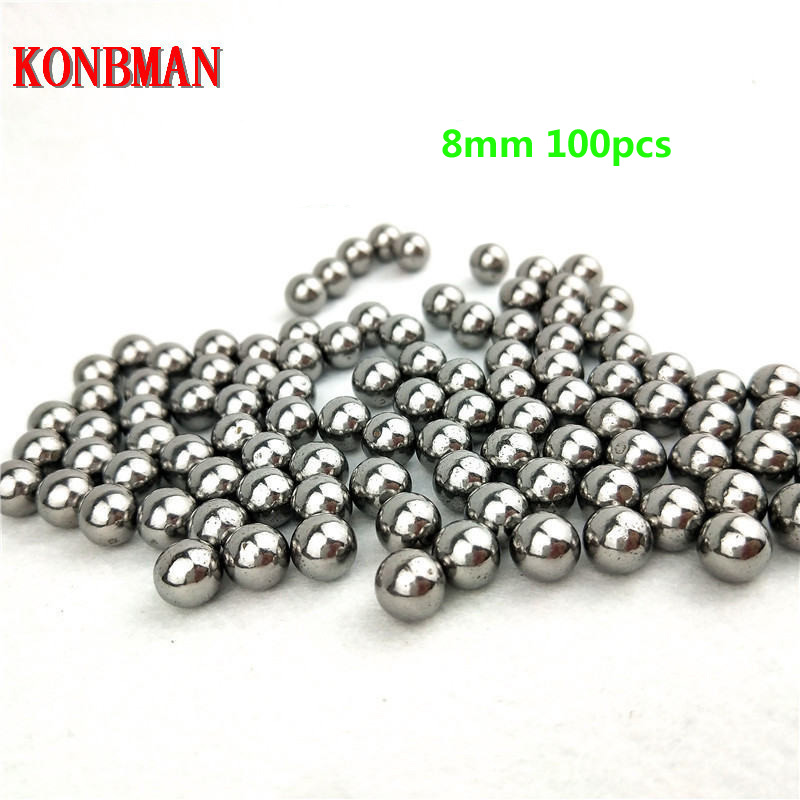 100pcs 4/5/6/7/8mm Diameter Steel Ball For Slingshot Professional Slingshot Bearing Bow Ammo Sling Shot Balls Accessories