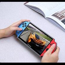 X12 زائد جديد لعبة فيديو وحدة التحكم 7 بوصة LCD مزدوجة الروك يده ريترو لعبة وحدة التحكم بنيت في 1000 ألعاب 16 جيجابايت أذرع التحكم في ألعاب الفيديو