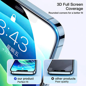 Image 3 - HOCO 3D Protective Glass for iPhone 7 8 XR Xs Max on iPhone 11 12 Pro Max Screen Protector Full Cover Glass for iPhone 12 Mini