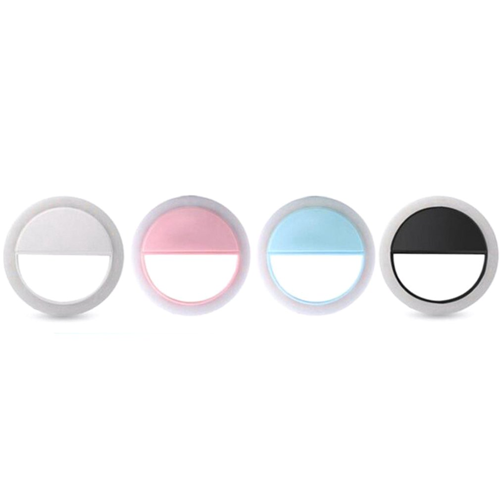 Mini Mobile Phone Selfie Ring Flash Lens Beauty Fill Light Lamp Portable Clip For Photo Camera For Cell Phone Smartphone