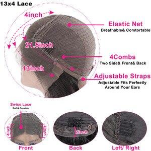 Image 4 - bling hair Perruque Droite Perruque brésilienne Perruque Lace Closure 4x4 5x5 6x6 7x7 Cheveux Humains Perruque Lace Frontal longue perruque de cheveux remy