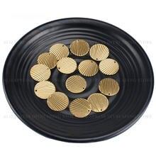 Pingente círculo de bronze para brincos, 20-1000 peças colar fazendo textura de dois lados, lotes de localização de metal da moda, atacado (21mm)