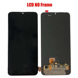 Image 4 - For OnePlus 6T  AMOLED Original LCD screen assembly and front case Matte Black  Bright black Free repair tools and Tempered film