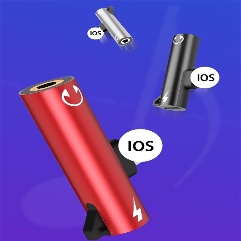 Адаптер для наушников Apple Jack для iPhone X 8 7 Plus, разъем для зарядки наушников AUX, разъем для прослушивания, адаптер OTG, конвертер, сплиттер
