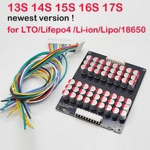 Lifepo4 equilibrador de equilibrio activo de iones de litio LFP, 15S, 16S, 17S, 6A, transferencia de energía BMS, 48V, 60V, 1A, 3A, 5A