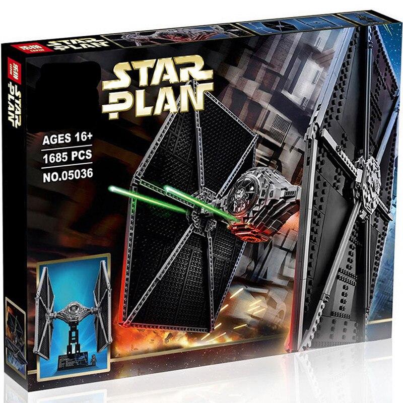 05036 Legoinglys Star Wars TIE Fighter enfants jouets modèle ensemble de construction blocs éducatifs briques bricolage enfants cadeau Compatible 75095