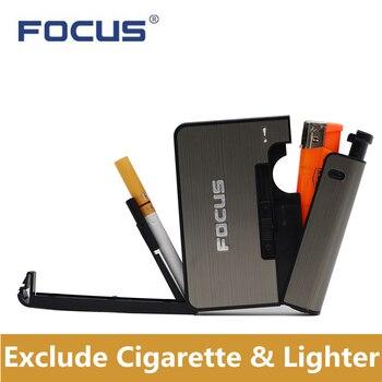 Металлические коробки для сигарет с керосиновой зажигалкой 10 шт. Влагостойкий Чехол для сигарет ветрозащитная надувная газовая зажигалка ...