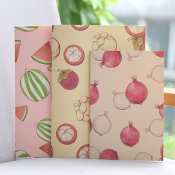 A5/B5 creative line book colored fruit pattern notebook diary planner paper multiple style notebook stationery school supply new creative stationery elegant flower chinese wind diary horizontal line small travel planner diary book notebook dd1358