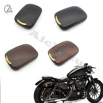 ACZ Motorcycle Smooth/Crocodile Black/Brown Suction Cup Chopper Rear Pillion Passenger Pad Seat for Harley Bobber new motorcycle 3 spring solo bracket seat for chopper bobber custom black bg