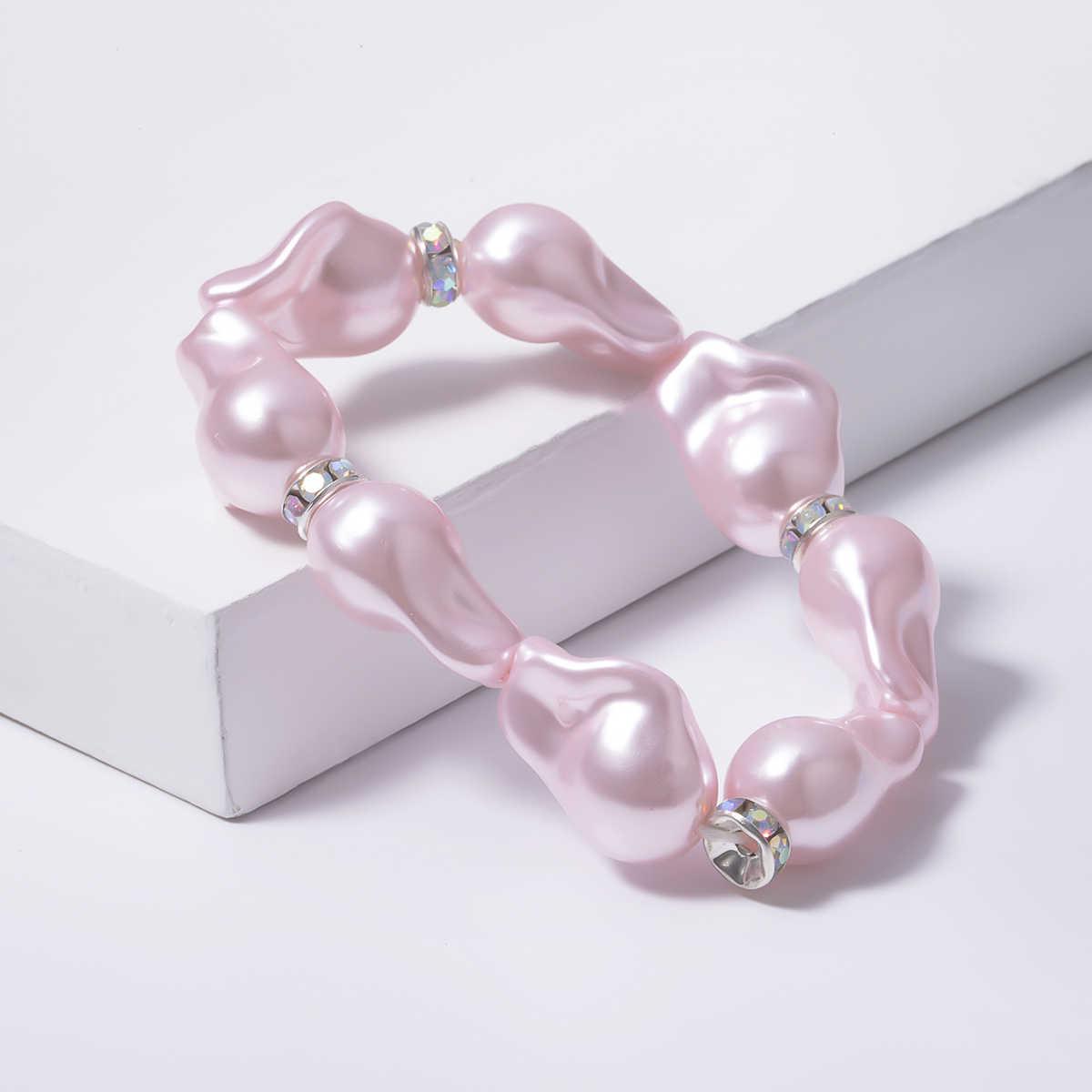 Ingemark Hawaii Simulated Pearl Choker Necklace NE+BA Statement Korean Bead Pendant Chain Bracelet Ankle Women Wedding Jewelry