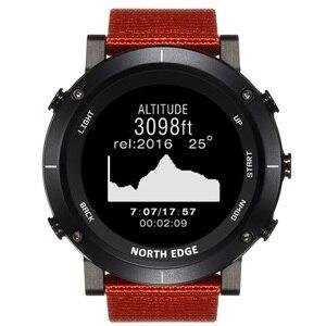 Image 3 - North Edge Men Sports Digital Watches Waterproof 50M Clock GPS Weather Altimeter Barometer Compass Heart Rate Hiking Watch