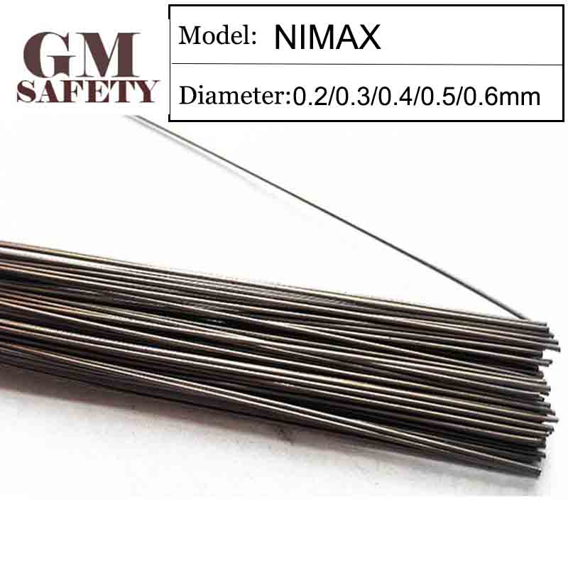 GM Welding Wire Material NIMAX Of 0.2/0.3/0.4/0.5/0.6mm Mold Laser Welding Filler 200pcs /1 Tube GMNIMAX