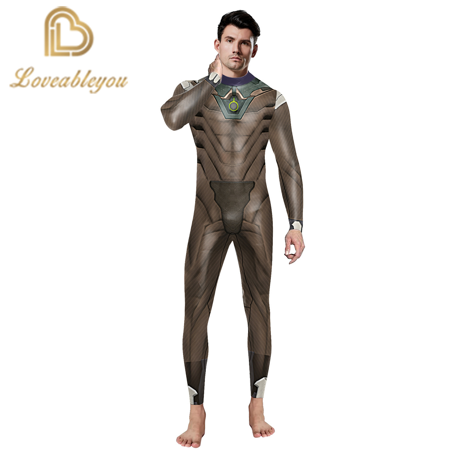 Hot Sale 2019 New Fashion Gaming Cosplay Costume 3D Printed Bodysuit for man Party Cospaly Bodysuit Sexy Jumpsuits 2