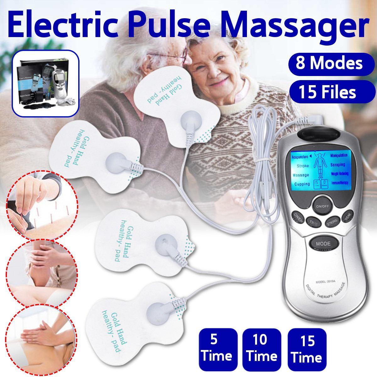 Gesundheit Zehn muscle Neck massager Zurück Elektrische Digitale Therapie Maschine Massage Elektronische Puls Stimulator für Volle Körperpflege