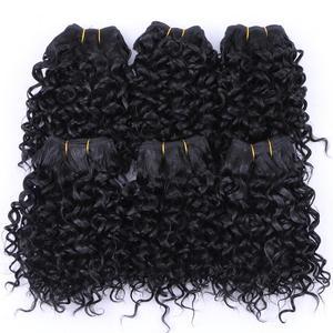 Image 2 - FSR syntetyczne doczepiane włosy krótkie perwersyjne kręcone włosy tkackie 6 części/partia 210g produkt do włosów