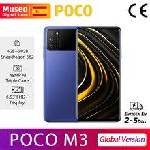 POCO M3, Versión Global, Snapdragon 662 Teléfono móvil, 4GB RAM 64GB/128GB ROM, Pantalla 6.53