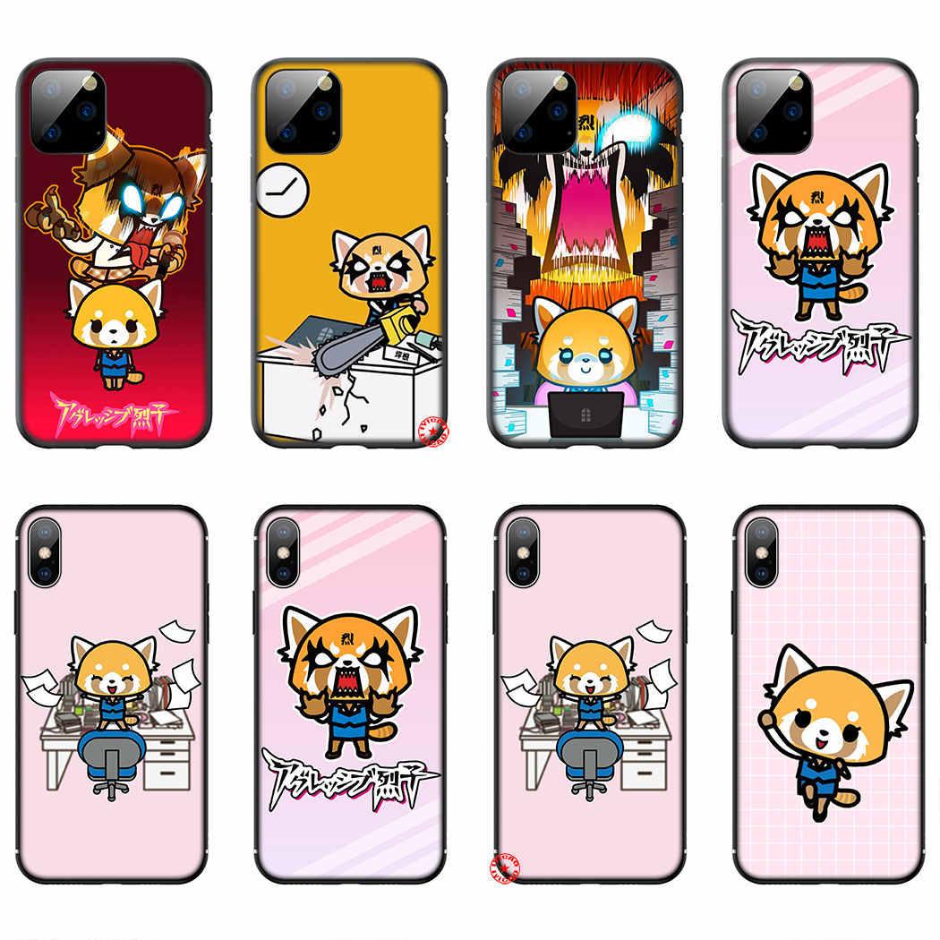Y5 Aggretsuko Fumetto Sveglio Molle Del Silicone di Caso per il iPhone 11 Pro XS Max XR X 8 7 6 6S più di 5 5S SE Copertura