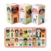 Fly AC Wooden Toys For Children Character puzzles, children's puzzles, six-sided painting, 3D vertical volume toys