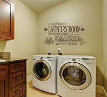 Applique murale en vinyle avec slogan de personnalité, décoration de salle à laver amovible, papier peint XY10