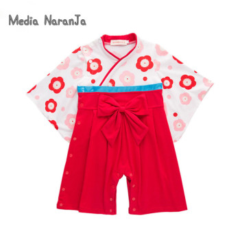 Kids Japanese Kimono Style  Baby Girls Boys 5 Types toddler Infant Cotton Kimono Boys Jumpsuit Clothes Costume 5
