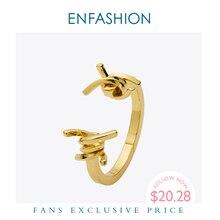 Enfashion takı dikenli dikenli bilezik Noeud kol bandı altın renk bileklik bileklik geniş kadın bilezikleri Manchette bilezik