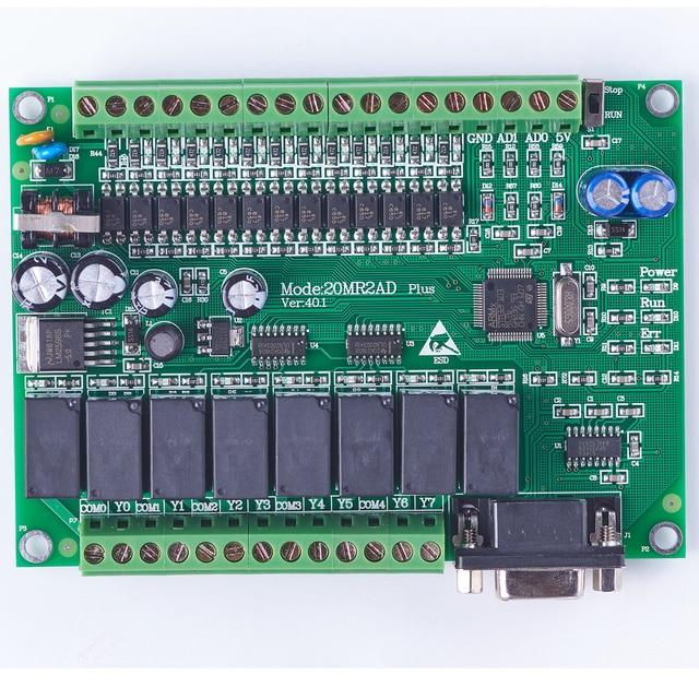 plc programmable logic controller single board plc 20MR FX2N 2AD 12 input  8output  0~10V