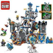 Развивающий строительный блок, война славы, замок, рыцари, боевой бункер, 9 фигурок, 1541 шт., развивающие кирпичи, игрушка, подарок для мальчика