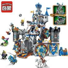 Enlighten construcción del castillo de la Guerra de la gloria para niños, 9 figuras, 1541 piezas, bloques educativos, juguete, regalo