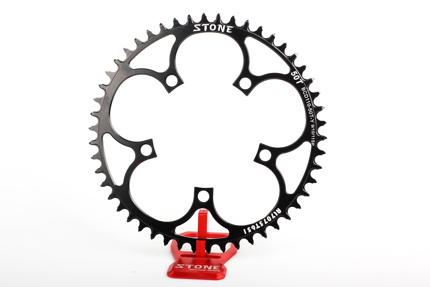 BCD110 5bolt 1X cx gravel Aero Single Circle Chainring for Sram Rotor 46t to 60t