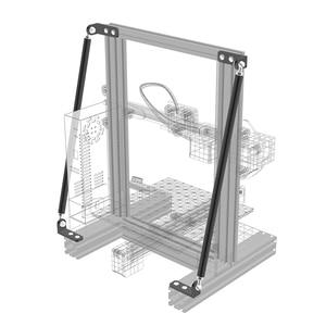 Image 1 - Детали для 3D принтера, опорный стержень, комплект из алюминиевого сплава, комплект тяги, совместим с оригинальными фотографиями, искусственными фотографиями