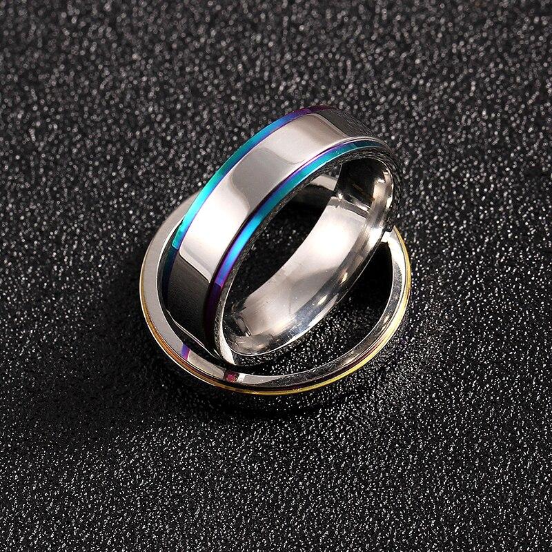 Hohe Qualit t 4 Farbe 2 MM D nne Paar Ring Fingerring Hochzeit Schmuck Neuheit
