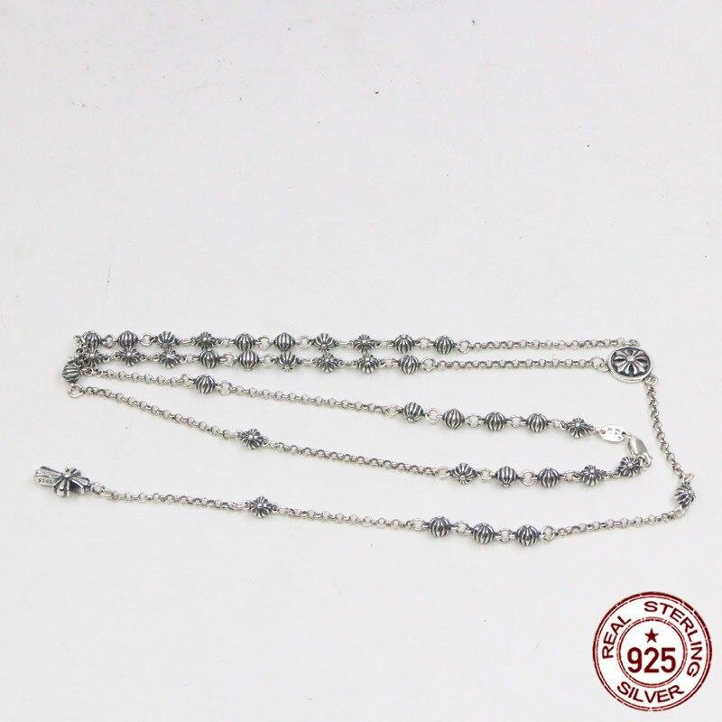 S925 argent sterling collier croix perle personnalité créative rétro mode amour rue danse style exquis 2019 nouvelle offre spéciale