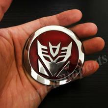 3d metal chrome transformadores autobot decepção auto emblema emblema adesivo decalque