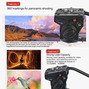 Image 5 - Kingjoy VT 3510 Aluminium Video Statief Hoofd 360 Graden Panoramische Camera Stand Vloeistof Demping Houder