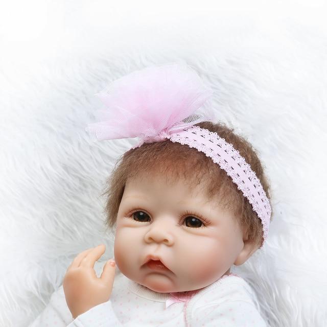 Newborn Sweet Face Lifelike Bebe Doll Reborn Baby Hand Rooted Hair 6