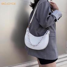 Casual Women Shoulder Handbag PU Leather Girls Chain Purses Solid Elegant Stone Leather Travel Totes Messenger Bag