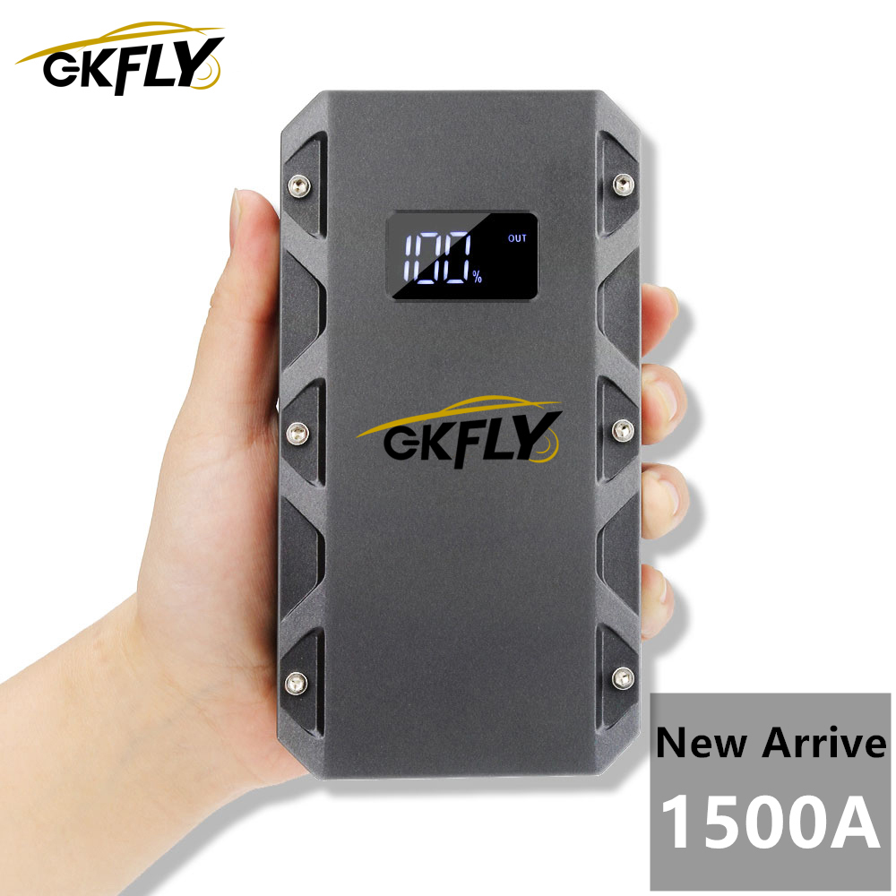 GKFLY High Power 1500A 12V Starting Device Car Jump Starter Petrol Diesel Car Charger Starter Cables For Car Battery Booster CE