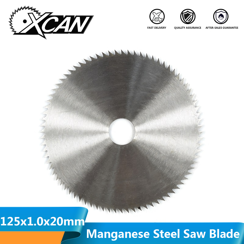 XCAN 1pc 125x20x1.0mm 60T Manganese Steel Wood Circular Saw Blade For Wood Cutting Wood Saw Blade Disc