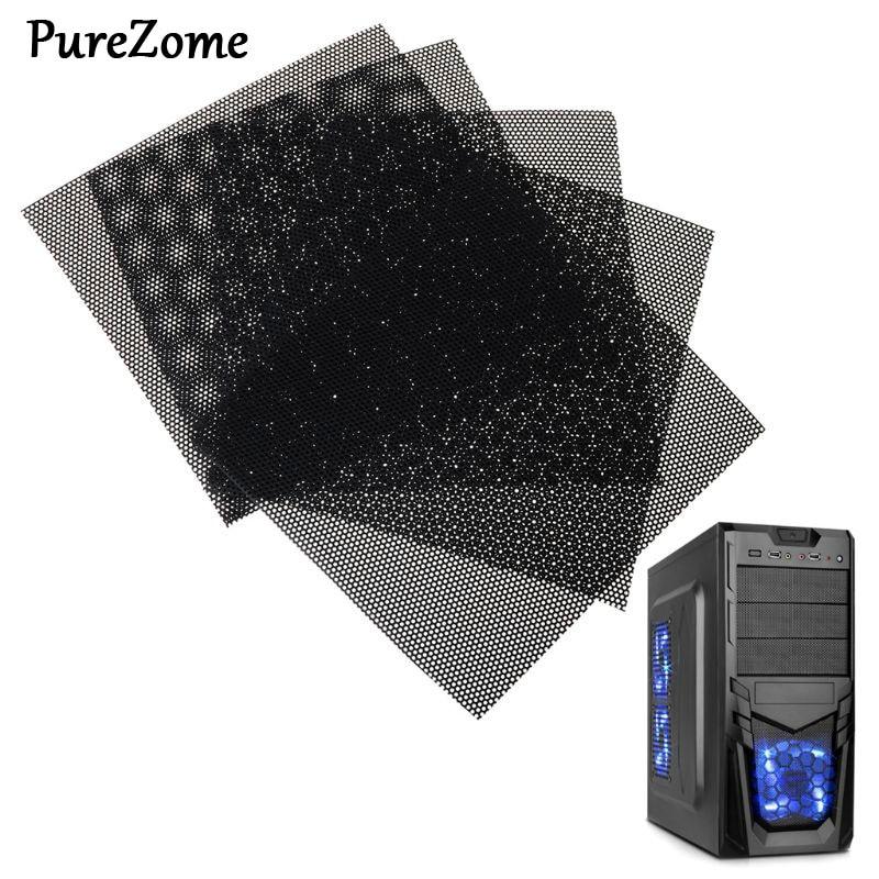 5PCS 10x10CM DIY Computer Mesh PVC PC Case Fan Cooler Black Dust Filter Network Net Chassis Dustproof Cover