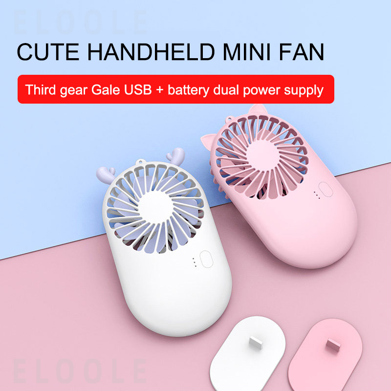 New Pattern Cute Cartoon Mini Pocket Fans USB Charge Mini Hold Small Fan Student Outdoors Bring Portable USB Fan Air Cooler