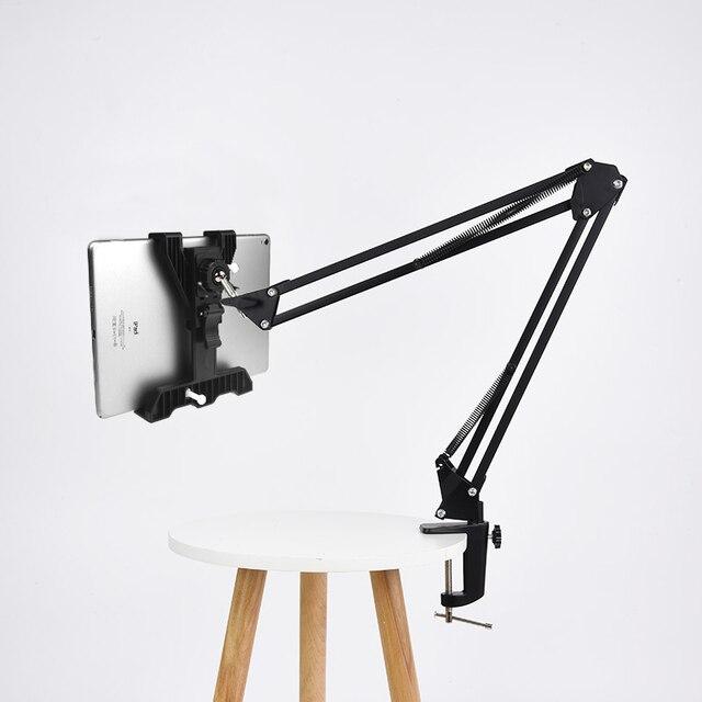 Tablet uniwersalny stojak uchwyt długie ramię dla Ipad 2 3 4 Air Mini dla Samsung Lenovo leniwy łóżko biurko do montażu na 6 -11 Cal Tablet PC